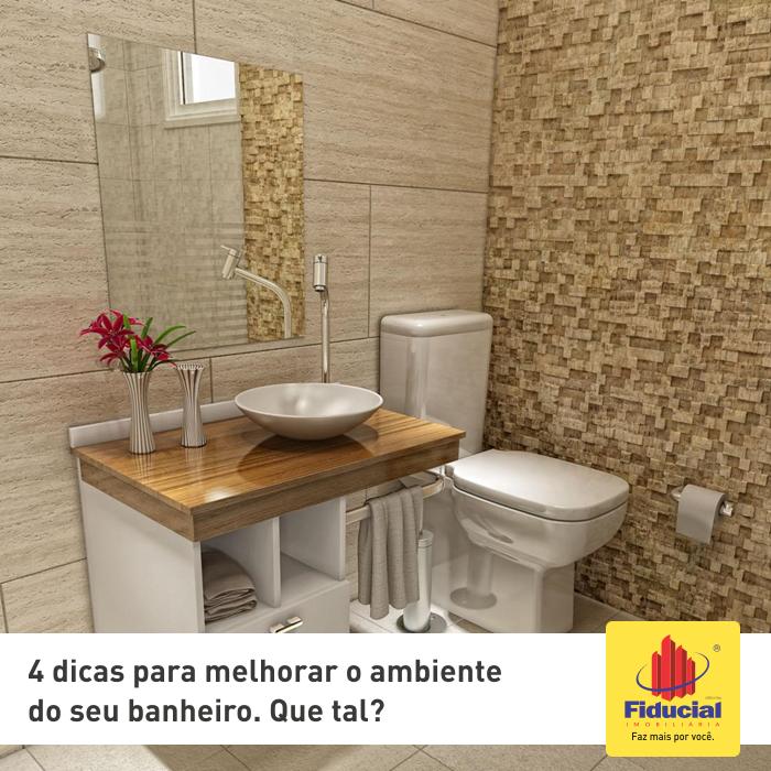 4 dicas para melhorar o ambiente do seu banheiro.