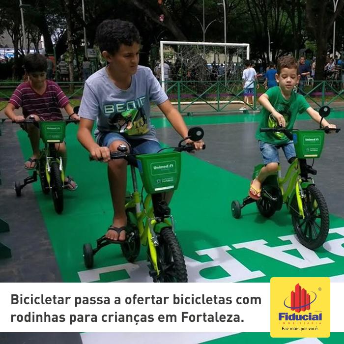 Bicicletar passa a ofertar bicicletas com rodinhas para crianças em Fortaleza