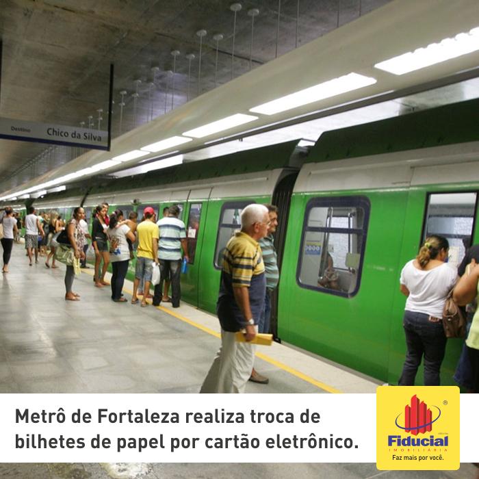 Metrô de Fortaleza realiza troca de bilhetes de papel por cartão eletrônico